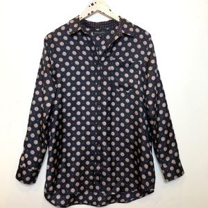 Banana Republic | 100% Silk Button Down Blouse